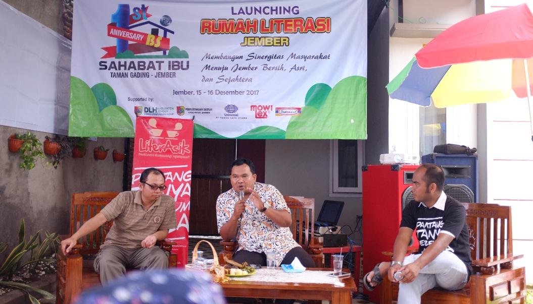 Launching Rumah Literasi Jember, RLI Gandeng Bank Sampah Inisiasi Kampoeng Recycle
