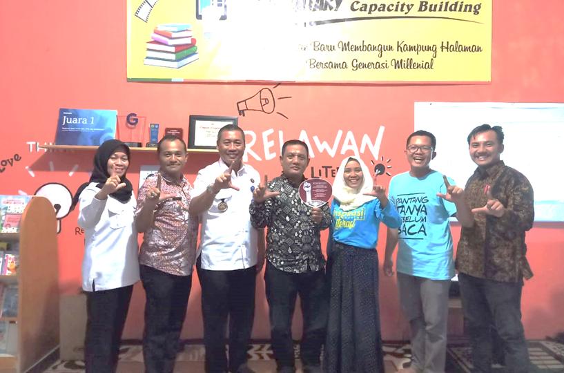 Tertarik Konsep Desa Literasi Ketapang, BNN Provinsi Sambangi Basecamp Relawan